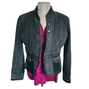 💗BGN & CO Tailored Faded Black Jean Jacket, 13/14